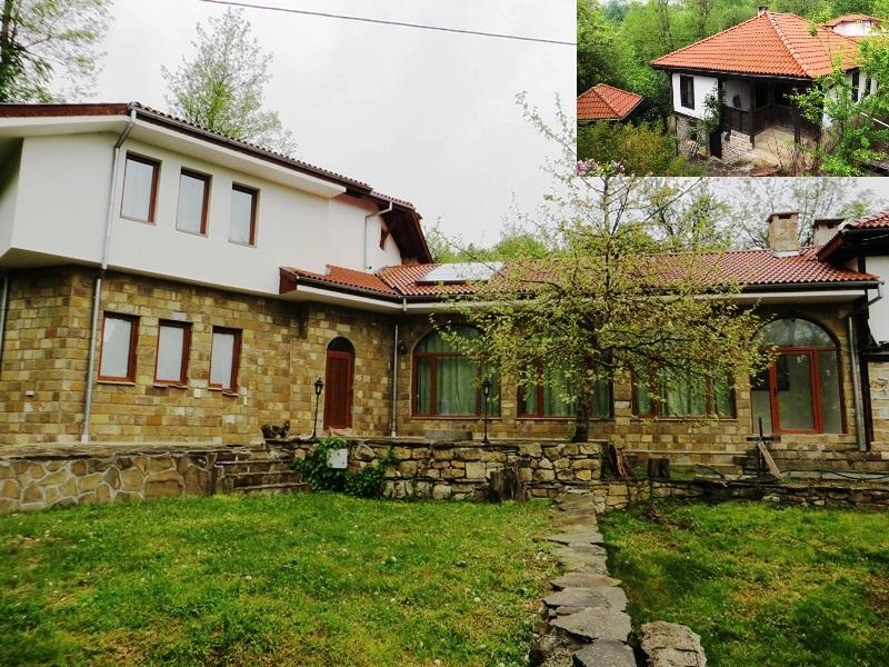 Two houses with a restaurant and barn, ideally located near to the tourist town of Tryavna. Fantastic mountain views.
