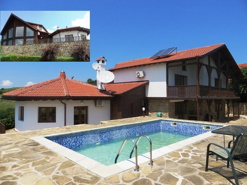 An exceptional, fully furnished, luxury house with swimming pool and 700 sq m landscaped gardens. 3 km to the city of Veliko Tarnovo!